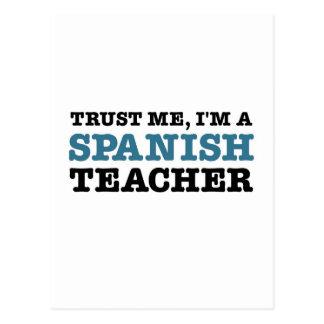 Confie-me mim são um professor espanhol cartão postal