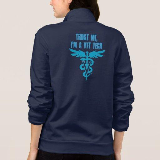 Confie-me, mim são uma tecnologia do veterinário jaquetas