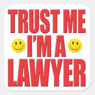 Confie-me vida do advogado adesivo quadrado