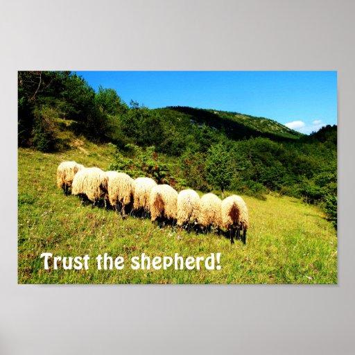 Confie o pastor poster
