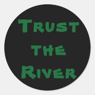 Confie o rio - etiqueta