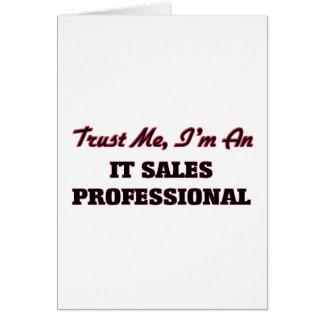 Confie que eu mim é ele as vendas profissionais cartão comemorativo
