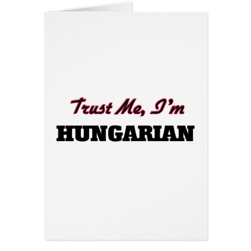 Confie que eu mim é húngaro cartoes