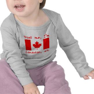 Confie que eu mim é produtos canadenses t-shirts