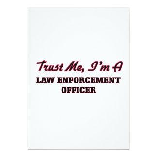 Confie que eu mim é um agente da autoridade convite 12.7 x 17.78cm