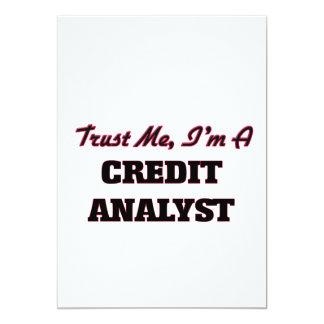 Confie que eu mim é um analista de crédito convites personalizados