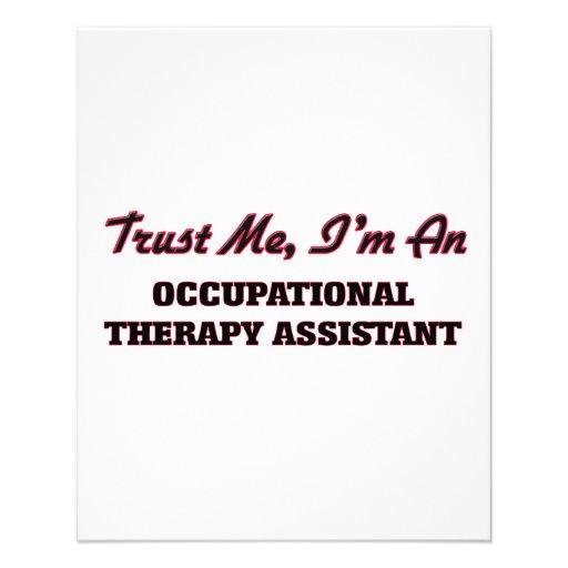 Confie que eu mim é um assistente arapy panfleto personalizados
