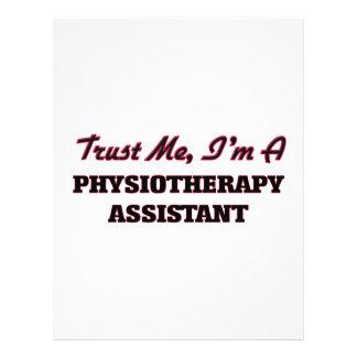 Confie que eu mim é um assistente de Physioarapy Panfleto