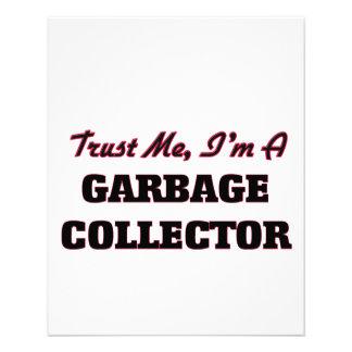 Confie que eu mim é um coletor de lixo panfleto coloridos