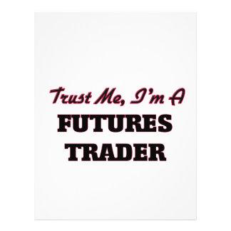 Confie que eu mim é um comerciante de futuros modelo de panfleto