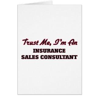 Confie que eu mim é um consultante das vendas do cartão comemorativo