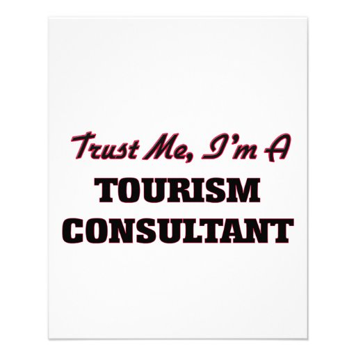 Confie que eu mim é um consultante do turismo modelo de panfleto