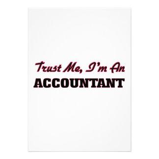 Confie que eu mim é um contador convites personalizado