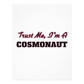 Confie que eu mim é um cosmonauta panfleto