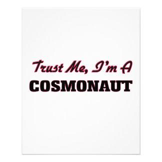 Confie que eu mim é um cosmonauta panfleto personalizado