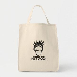 Confie que eu mim é um cozinheiro! bolsa tote