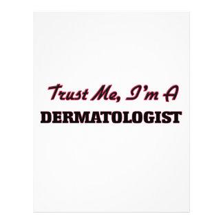 Confie que eu mim é um dermatologista panfleto personalizado
