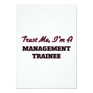 Confie que eu mim é um estagiário da gestão convite 12.7 x 17.78cm