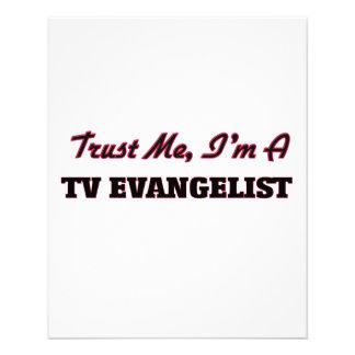Confie que eu mim é um evangelista da tevê panfleto personalizados