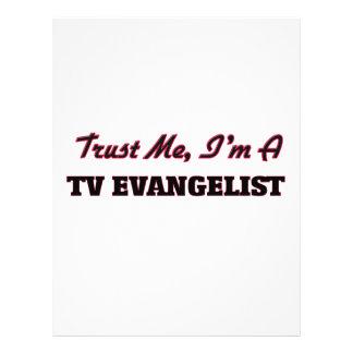 Confie que eu mim é um evangelista da tevê modelo de panfletos