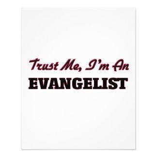 Confie que eu mim é um evangelista panfleto personalizados