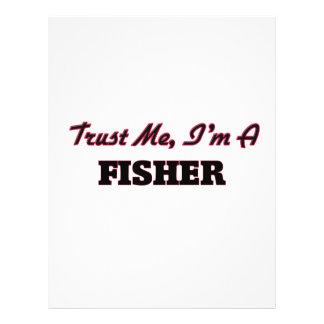 Confie que eu mim é um Fisher Panfleto Personalizado