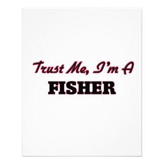 Confie que eu mim é um Fisher Panfletos Coloridos