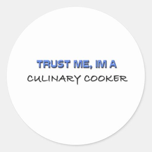 Confie que eu mim é um fogão culinário adesivo redondo