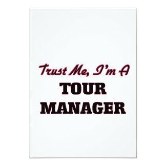 Confie que eu mim é um gerente da excursão convites