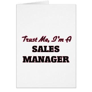 Confie que eu mim é um gerente de vendas