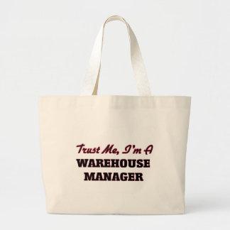 Confie que eu mim é um gerente do armazém sacola tote jumbo
