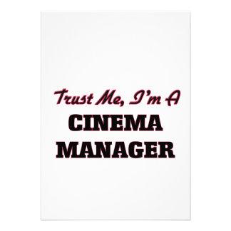 Confie que eu mim é um gerente do cinema convite