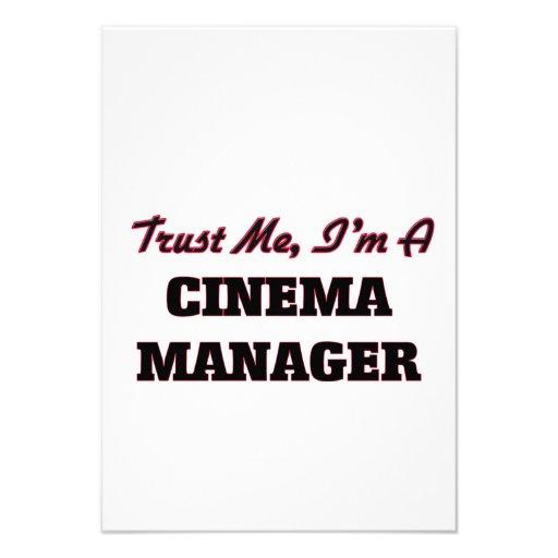 Confie que eu mim é um gerente do cinema convites