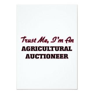 Confie que eu mim é um leiloeiro agrícola convite personalizado
