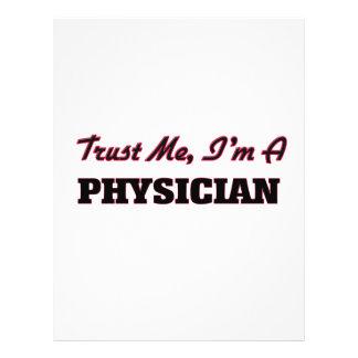 Confie que eu mim é um médico panfletos coloridos