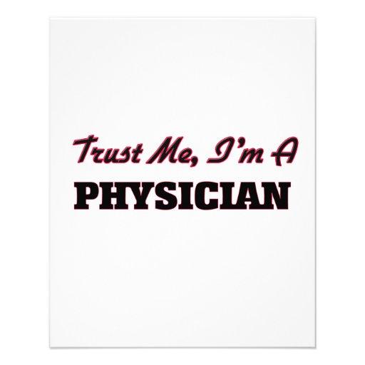 Confie que eu mim é um médico modelo de panfleto