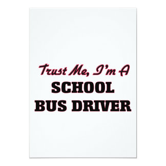 Confie que eu mim é um motorista de auto escolar convite 12.7 x 17.78cm