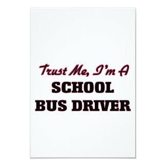 Confie que eu mim é um motorista de auto escolar convite 8.89 x 12.7cm