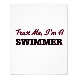 Confie que eu mim é um nadador panfleto personalizados