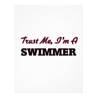 Confie que eu mim é um nadador panfletos coloridos
