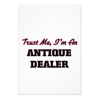 Confie que eu mim é um negociante antigo convites personalizado