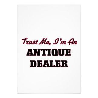 Confie que eu mim é um negociante antigo convite