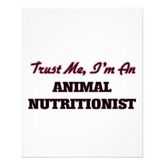 Confie que eu mim é um nutricionista animal panfleto