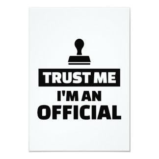 Confie que eu mim é um oficial convite 8.89 x 12.7cm