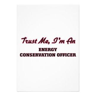 Confie que eu mim é um oficial da conservação de convites