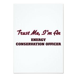 Confie que eu mim é um oficial da conservação de convite 12.7 x 17.78cm
