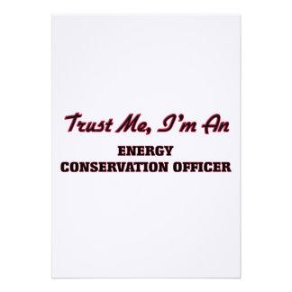 Confie que eu mim é um oficial da conservação de convite personalizados