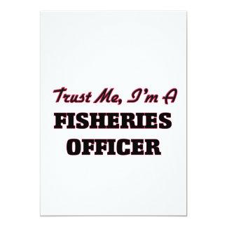 Confie que eu mim é um oficial da pesca convite 12.7 x 17.78cm