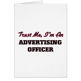Confie que eu mim é um oficial da propaganda cartões