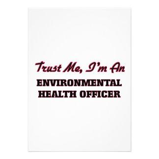 Confie que eu mim é um oficial de saúde ambiental convite